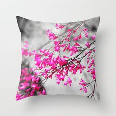 Pink Throw Pillow by Mareike Böhmer Graphics - $20.00
