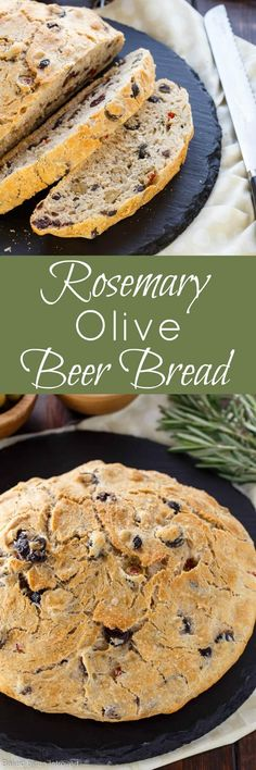 This recipe for Rosemary Olive Beer Bread is delicious and simply knead-free. The beer lends a distinctive flavor and is complemented with three different varieties of olives. Enjoy this delicious bread with your favorite soup or alone with a butter!