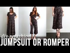 a500633a058c (33) DIY very EASY dress to jumpsuit or romper refashion - YouTube Shirt  Refashion