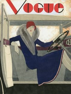 Vogue magazine (March 16, 1929) - Cover illustration by Pierre Mourgue