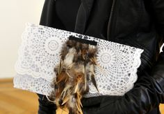 STERNENTAU handcrafted bags featherCLUTCH Fur Bag, Austria, Shoulder Bag, Cool Stuff, Handmade, Bags, Handbags, Hand Made, Totes
