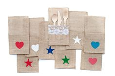 Burlap Cutlery Holders    Hug your cutlery with these shabby chic embellishments    58% OFF