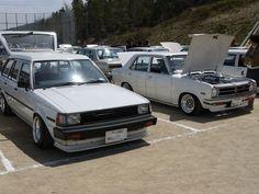 Toyota ke70/te72 wagon and Datsun 210  i think    #3tc #corolla #punto ocho #ke70 #te72 #toyota #oldschooljdm #braggenrites #datsun #210
