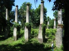 Remains of an early Antebellum Mansion built in the burned down in  Florida