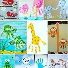 Booooom dia! Que tal fazer artes com as mãos, usando elas para fazer desenhos de animais? #educaçãoinfantil #artes #mairaborgesap #pinturas #animais