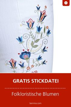 Blumen sticken Vorlage: Kostenlose Stickdatei Best Picture For DIY Fabric Flowers rustic For Your Taste You are looking for something, and it Hand Embroidery Patterns Free, Embroidery Flowers Pattern, Simple Embroidery, Free Machine Embroidery, Embroidery Kits, Broderie Simple, Diy Broderie, High Pictures, Free Design
