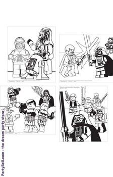 Star wars coloring posters