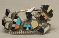 Zuni Inlay Bracelet--Rainbow Man