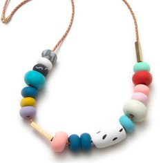 Mixed Bead Necklace, DIY with polymer clay