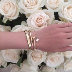 Hot Weekend Sale Available in Gold or Silver. All 3 bracelets are included in the price. Available plain or with cubic zirconia . Jewelry Bracelets