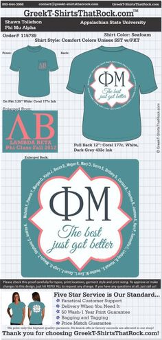 Phi Mu T-Shirts That Rock 115789proof ...................................................WORK 1 ON 1 with a member of our design team until your T-Shirt ideas are perfect.... and ALWAYS them on in time (before you even need them) at the price you want! ...................................................................................................... JUST CLICK THIS IMAGE TO GET STARTED!