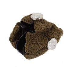 Coffee Color Braided Bowknot Decor Black Plastic Hair Claw Clamp ** Learn more by visiting the image link.