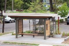 Fourth Art in Motion bus shelter dedicated in Lexington today Urban Furniture, Street Furniture, Furniture Design, Furniture Stores, Cheap Furniture, Restoration Hardware Outdoor, Bus Stop Design, Pottery Barn Outdoor, Bus Shelters