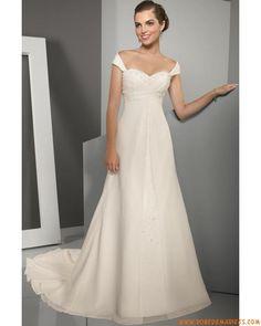 Robe de mariée Empire mousseline cristal