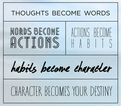 thoughts become