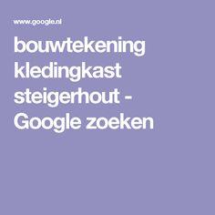 bouwtekening kledingkast steigerhout - Google zoeken