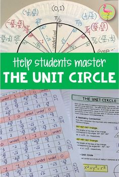Help your students master the concepts of the unit circle in PreCalclus or Trigonometry with this complete lesson including notes, foldables, homework, and more. Unit Circle Trigonometry, Calculus Notes, Act Math, Homeschool Math, Homeschooling, We Are Teachers, Honor Student, Smart Board Lessons, Precalculus