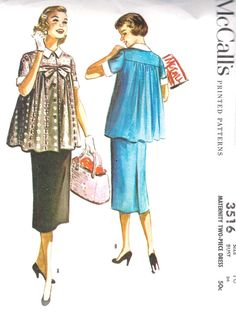 1950s Misses Maternity Dress - 60s too, because that's the sort of outfits I wore when I was preggy with my two sons, both born in the 60s!!! LOL, what a change in maternity clothes since then!!