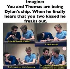 I'm only saving this for Dylan's face. He is so hilarious. (And Thomas is amazing too.)