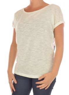 T-SHIRT SHORTSLEEVE DAMES AGNES OWLA SS TOP ecru / off white Only