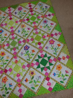 fabricsandflowers.blogspot.com by ColorGirlQuilts, via Flickr