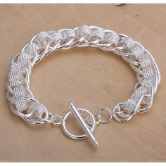 """Silver Mesh Link Bracelet Silver Mesh Link Bracelet - length 7 1/2"""". Rhodium plated for a platinum finish. Jewelry Bracelets"""