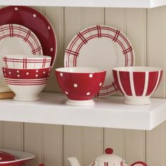 You'll love our selection of small kitchen décor, kitchen storage solutions and dining accessories. Prep Kitchen, Kitchen Dining, Kitchen Decor, Red And White Kitchen, Red Plates, Red Bowl, Tea Pot Set, Tea Sets, Kitchen Storage Solutions