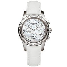 Certina Women s DS Prime 34mm White Leather Band Steel Case Quartz MOP Dial  Analog Watch C538 · ZenekarWatchesNőKaróra 33812bcfe1