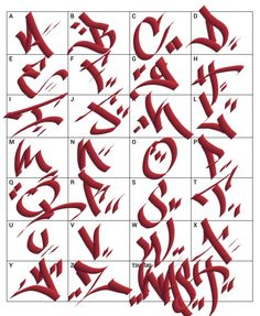 Graffiti Letters: 61 graffiti artists share their bomb science style - Graffiti Alphabet Styles, Graffiti Lettering Alphabet, Tattoo Fonts Alphabet, Graffiti Writing, Tattoo Lettering Fonts, Graffiti Font, Graffiti Tagging, Graffiti Styles, Graffiti Artists