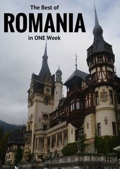 The Best of Romania in 1 Week - Eat Sleep Breathe Travel Backpacking Europe, Europe Travel Tips, European Travel, Travel Guides, Places To Travel, Travel Destinations, Budget Travel, Montenegro, Romanian Castles