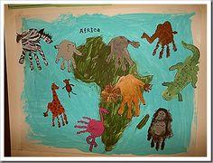 African animals art