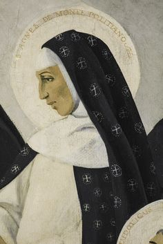"""https://flic.kr/p/GkvMzr   Sancta Agnes de Monte Politano   """"Almighty God, you adorned your bride, Saint Agnes, with a wonderful fervour in prayer. May we imitate her by keeping our minds always on you, so that we may obtain the abundant fruit of holiness. Through Christ our Lord. Amen."""" – Collect for today's feast of St Agnes of Montepulciano, Dominican nun. Detail from a painting by a Dominican nun in the refectory of the Dominican House of Studies, Washington DC."""