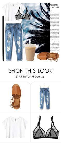 """""""coastline"""" by juliebarbeau ❤ liked on Polyvore featuring Topshop, H&M and Eres"""