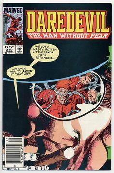DAREDEVIL Vol. 1 #219 cover, Frank Miller.
