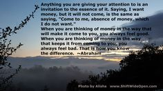Abraham wanting money