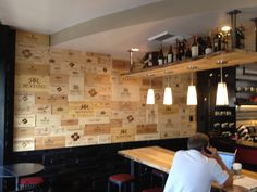 Wine Box Wall: Starbucks Evenings