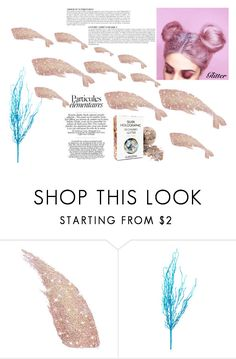 """""""Whale Ballet"""" by sanderley-vitalino ❤ liked on Polyvore featuring beauty, Anja, hair and glitter"""