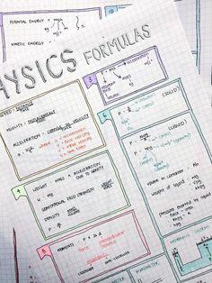 formulas organizing