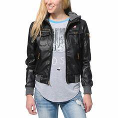 Girls Bomber Jacket With Hood - My Jacket