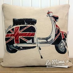 SOLD OUT! - Cushion Pillow Cover England Scooter
