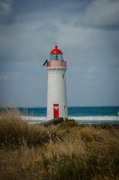 Port Fairy Lighthouse by Chris Tyquin on Lighthouse Lighting, Lighthouse Pictures, Lighthouse Art, Lighthouse Keeper, Beacon Of Light, The Way Home, Water Tower, Anne Of Green Gables, Windmill
