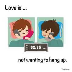 #love #youhangup Like our Facebook page for more comics: http://fb.com/lovebyte.us?utm_source=pinterest&utm_campaign=pinterest&utm_medium=pinterest