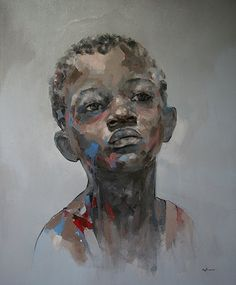 "About South African born artist Ryan Hewett is self taught in the medium he enjoys most, oils. ""I grew up with a pencil in my hand, taking art. African American Art, African Art, African Beauty, Afro Art, Portrait Art, Portraits, Art Plastique, Black Art, Love Art"