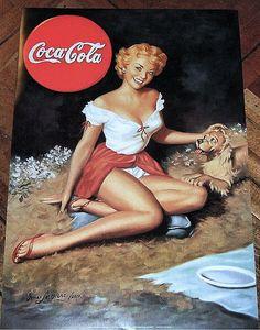 Coca-Cola pin-up