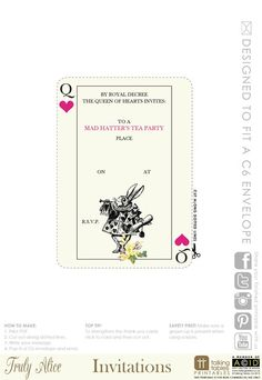 Truly Alice Free Printable - Invitation