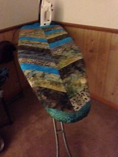 Quilted ironing board cover