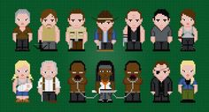 (10) Name: 'Embroidery : The Walking Dead S3 PDF Cross Stitch