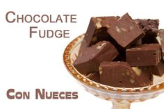 Fudge de Chocolate con Nueces