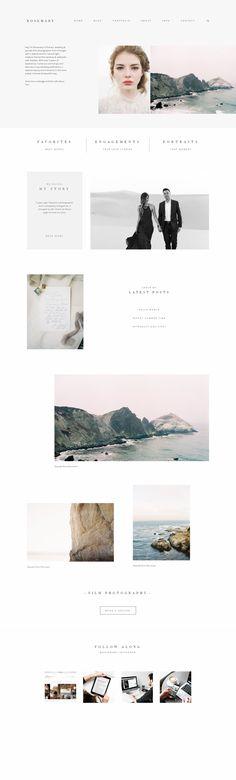 Website Design for Film Photographers, Fine-Art, Portrait or Wedding Photographers, Jeremy Chou Photography, WordPress, Flothemes, Rosemary Theme, Minimalist Web Design, Web Design Kit.