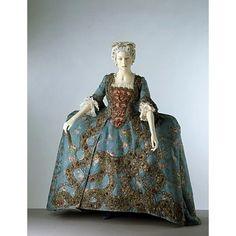 Sack Dress c. Vintage Outfits, Robes Vintage, Vintage Dresses, Vintage Fashion, Historical Costume, Historical Clothing, Rococo Fashion, 18th Century Costume, Court Dresses